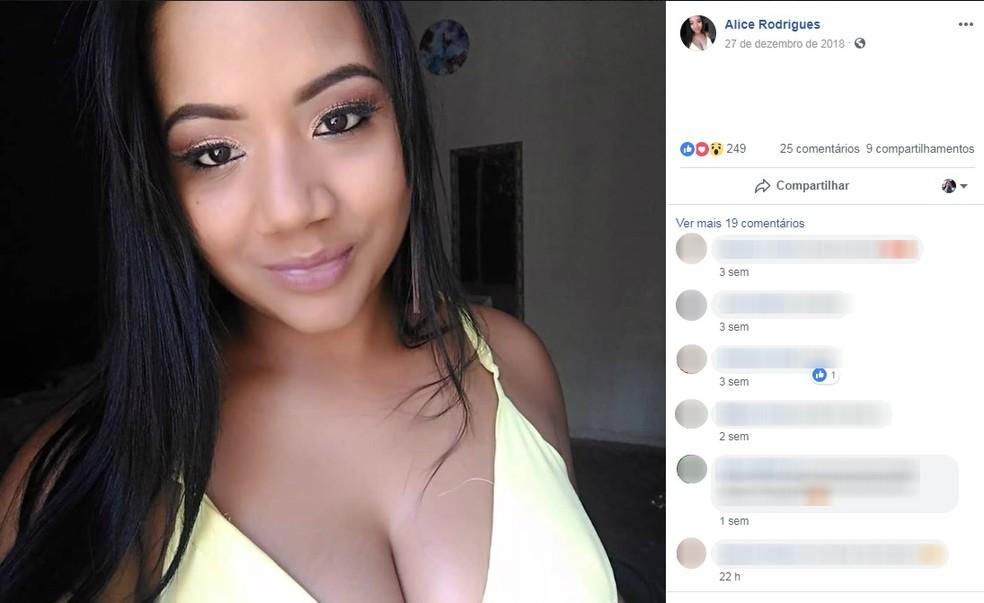 Corpo de Alice foi encontrado às margens do Rio São Francisco — Foto: Reprodução/Facebook
