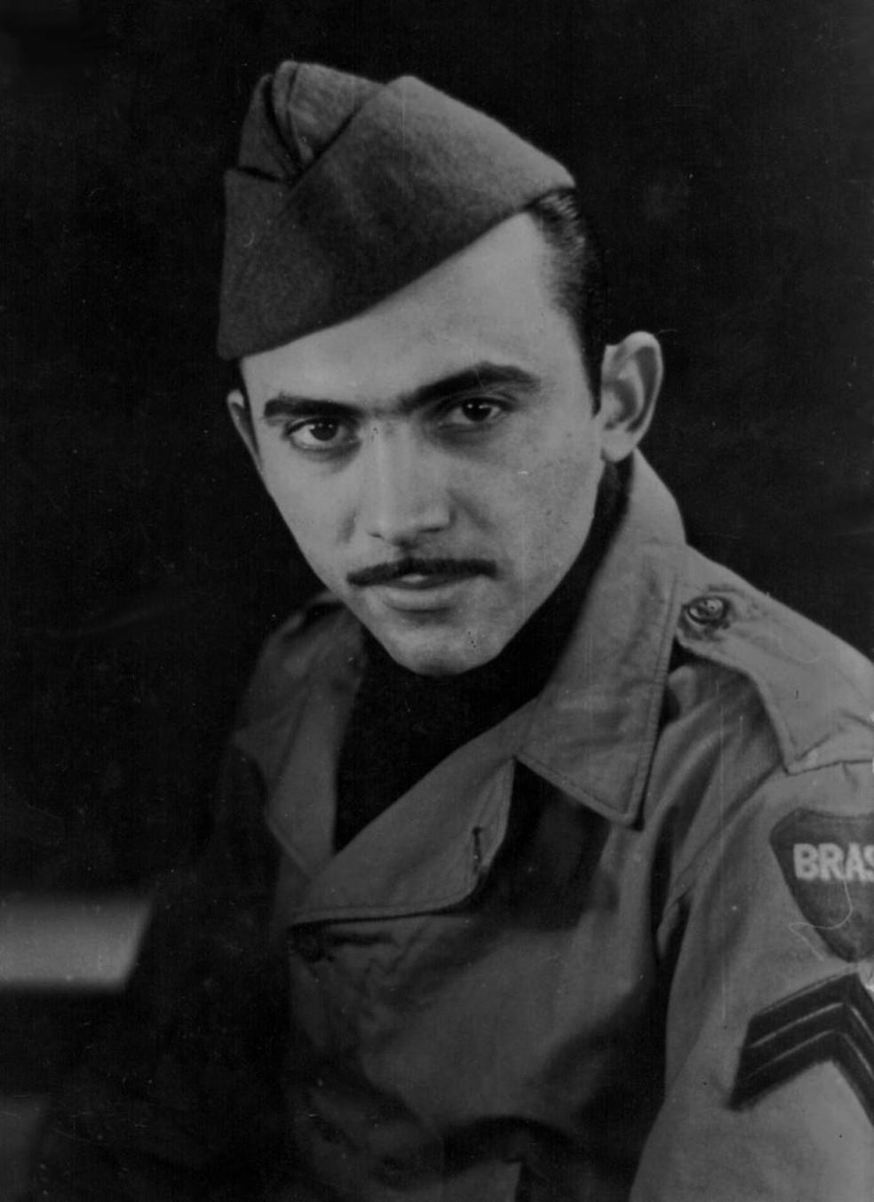 Mário Guerreiro lutou na Segunda Guerra Mundial em 1944. — Foto: Arquivo Pessoal