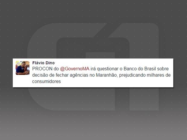 Governador Flávio Dino fala sobre banco fechado no Maranhão (Foto: Arte G1)
