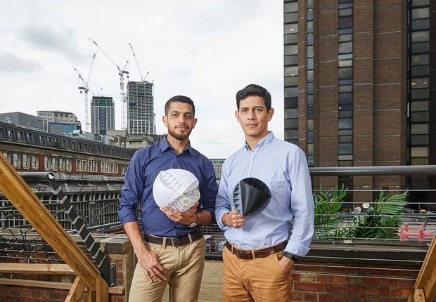 A O-Wind Turbine, criada por Nicolas Orellana e Yaseen Noorani, deve ser lançada no mercado dentro de cinco anos (Foto: Reprodução/Facebook/James Dyson Award)