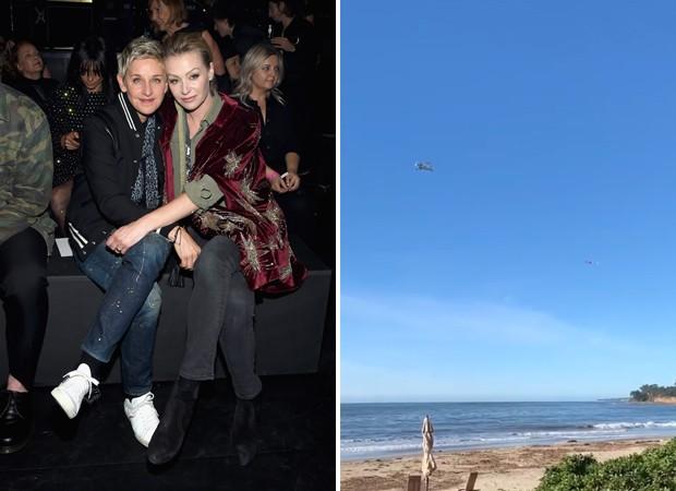 Ellen Degeneres e Portia de Rossi (Foto: Getty Images e Reprodução / Instagram)