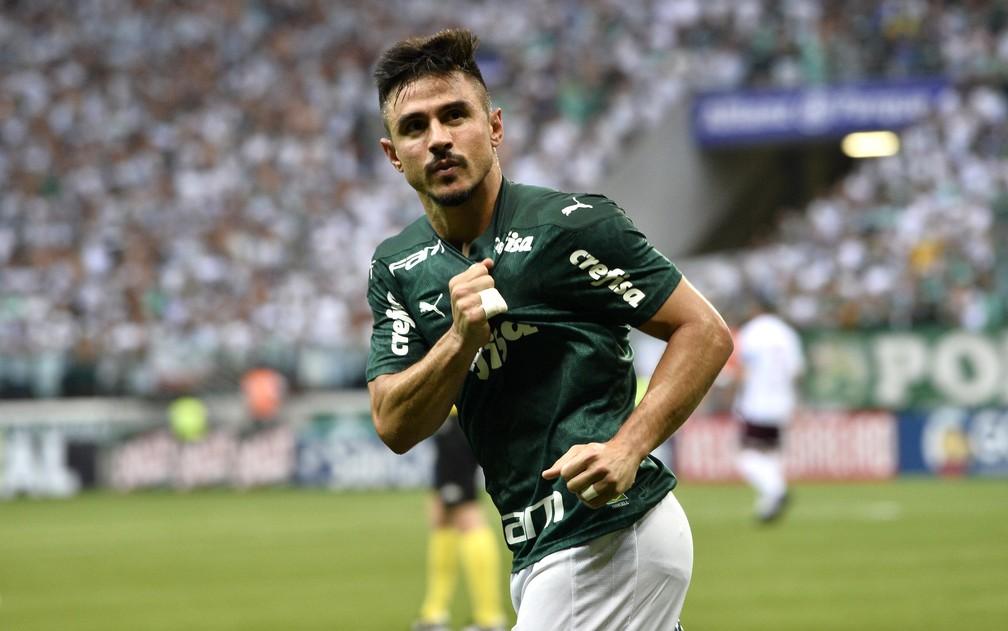 Willian Bigode, em ação pelo Palmeiras — Foto: Marcos Ribolli