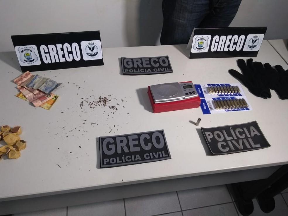 Greco prende suspeitos do crime de extorsão mediante sequestro — Foto: Marcos Teixeira / TV Clube