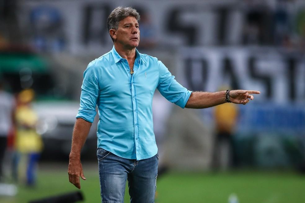 Renato Gaúcho faz história no Grêmio — Foto: Lucas Uebel/DVG/Grêmio