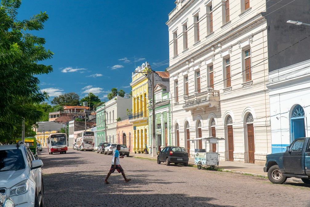Centro de Corumbá (MS) — Foto: Eduardo Palacio/G1