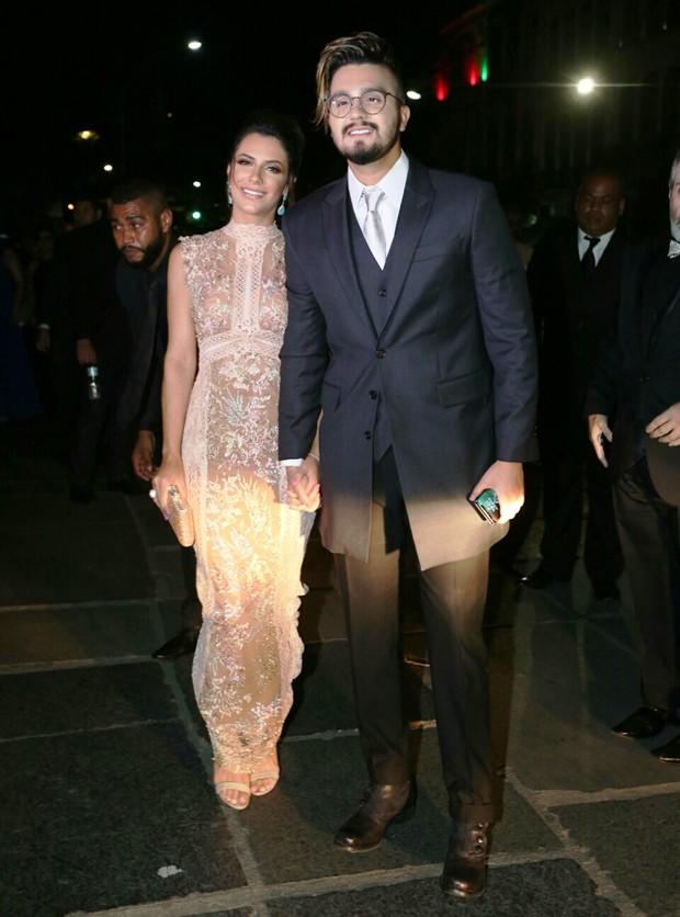 Luan Santana e Jade Magalhães (Foto: Wallace Barbosa e Anderson Borde/AgNews)