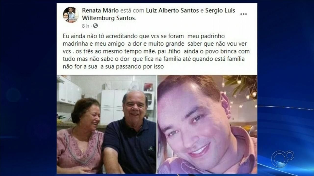 Casal e filho morrem de Covid-19 em Santa Cruz do Rio Pardo neste fim de semana