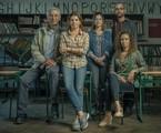 Paulo Gorgulho, Debora Bloch, Hermila Guedes, Silvio Guindane e Thalita Carauta em 'Segunda chamada' | Maurício Fidalgo/TV Globo