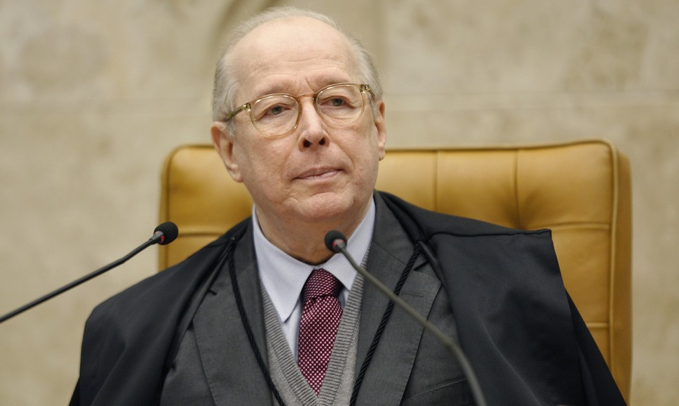 O ministro Celso de Mello durante sessão do Supremo Tribunal Federal (STF)  — Foto:  Rosinei Coutinho/SCO/STF