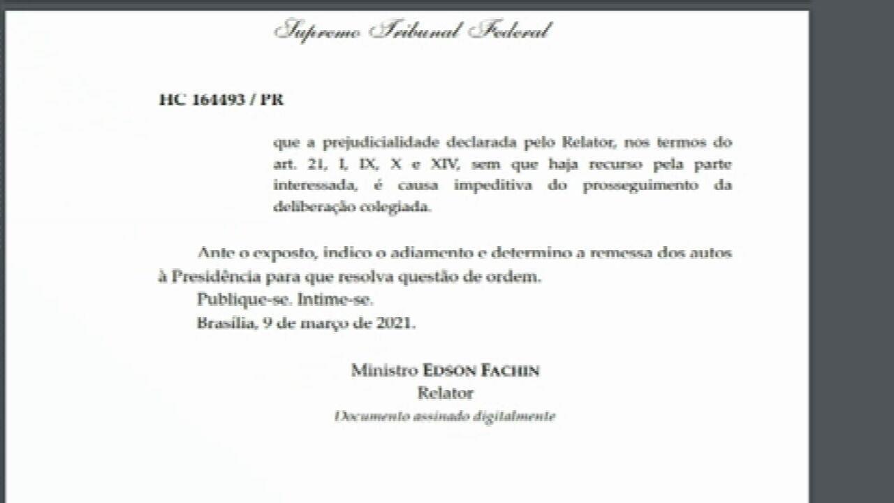 Fachin pede que julgamento sobre suspeição de Moro vá para plenário