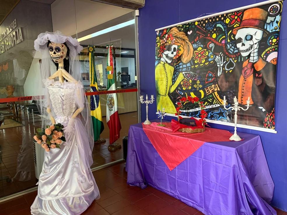 Embaixada do México comemora Día de Muertos — Foto: Brenda Ortiz/ G1