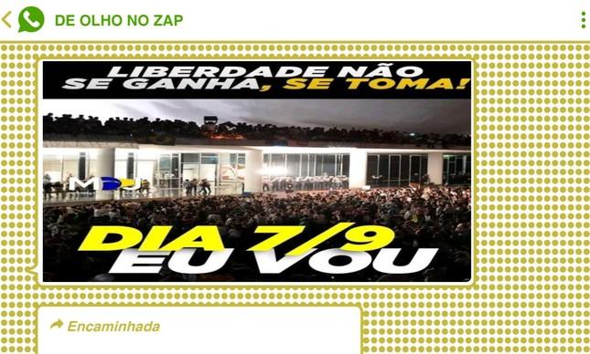 Imagens do Congresso invadido por manifestantes, registradas em junho de 2013, foram usadas como alusão às manifestações pró-Bolsonaro no feriado de 7 de setembro