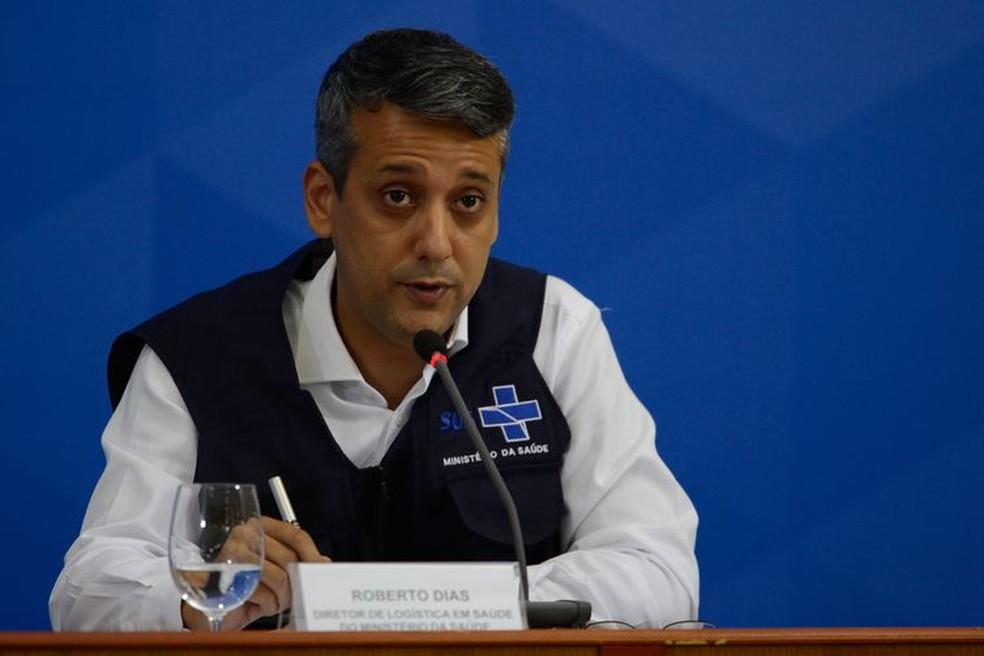 Ex-diretor do Departamento de Logística do Ministério da Saúde, Roberto Dias. — Foto: Marcello Casal Jr./Agência Brasil