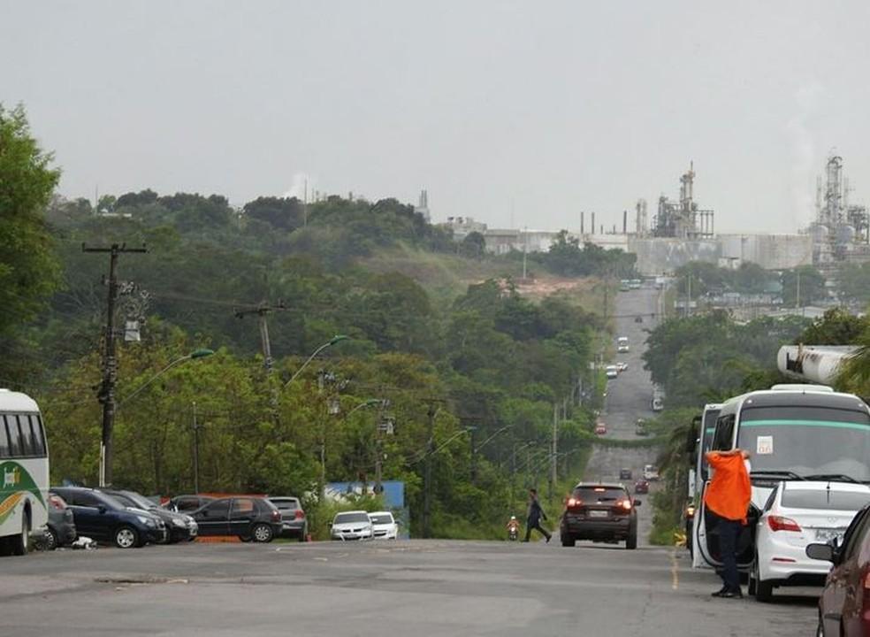Acesso para refinaria liberado em Manaus (Foto: Adneison Severiano/G1 AM)