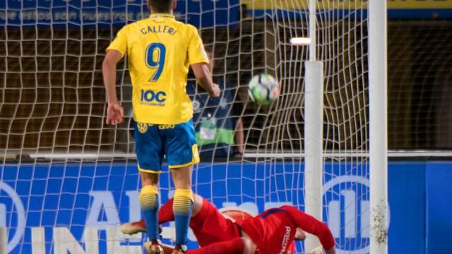 Calleri marcou de pênalti para o Las Palmas