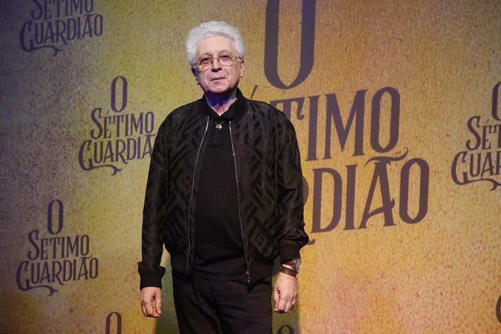 Agnaldo Silva, autor de 'O Sétimo Guardião', participa do lançamento da nova novela — Foto: Fabiano Battaglin/Gshow