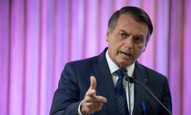 Jair Bolsonaro discursa em evento na sede da Firjan, no Rio