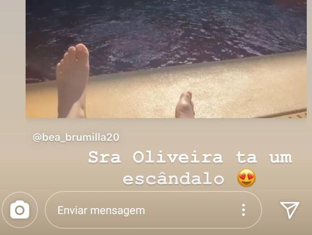Ludmilla se derrete por Brunna Gonçalves (Foto: Reprodução/Instagram)