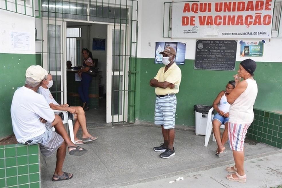 Campanha de vacinação contra a Influenza em Feira de Santana — Foto: Washington Nery / Divulgação / Prefeitura de Feira de Santana