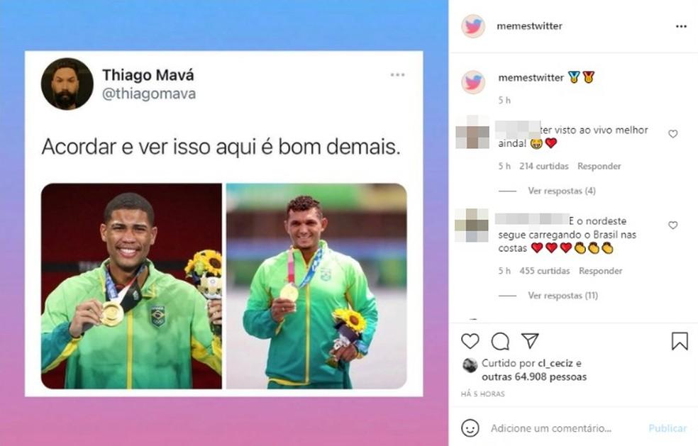 Desempenho dos baianos nas Olimpíadas de Tóquio rende memes na internet — Foto: Reprodução / Redes Sociais