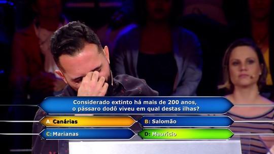 Yuri Lobão leva R$ 50 mil no 'Quem Quer Ser Um Milionário', mas lamenta ter gastado ajudas