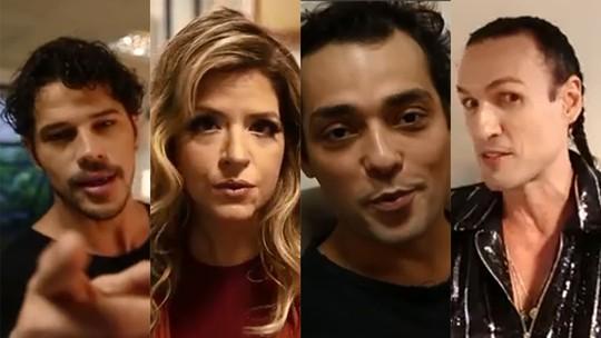 José Loreto, Mariana Santos, Eduardo Sterblitch e Dudu Bertholini revelam se já mandaram nude; assista!