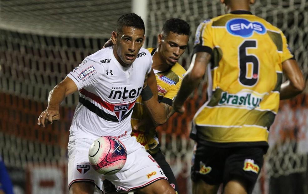 Diego Souza estreou pelo São Paulo contra o Novorizontino (Foto: Érico Leonan / saopaulofc.net)