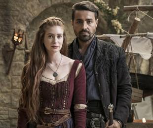 Marina Ruy Barbosa e Ricardo Pereira são Amália e Virgílio em 'Deus salve o rei' | Sergio Zalis/TV Globo