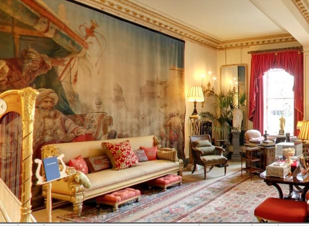 Interior da casa do Príncipe Charles: sala do jardim (Foto: Google Arts&Culture/ Reprodução)