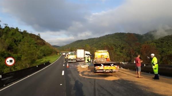 Engavetamento de veículos causa lentidão na Rodovia Régis Bittencourt  - Notícias - Plantão Diário