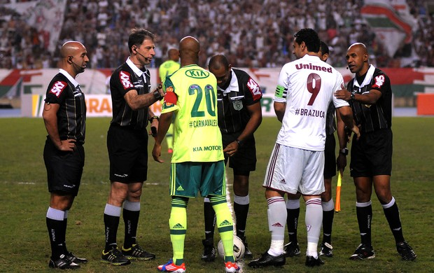 Fred e Marcos Assunção, Fluminense x Palmeiras (Foto: André Durão / Globoesporte.com)
