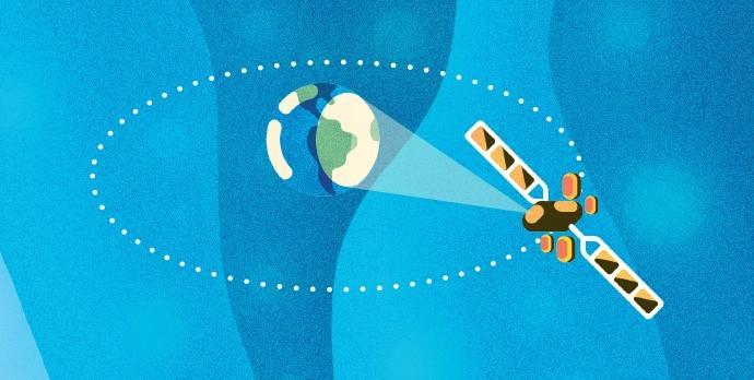 A 36 mil km de altitude, o SGDC se move na mesma velocidade de rotação da Terra... Assim, o satélite fica em uma posição fixa em relação ao planeta, mesmo em movimento. (Foto: Ilustração: Raul Aguiar)
