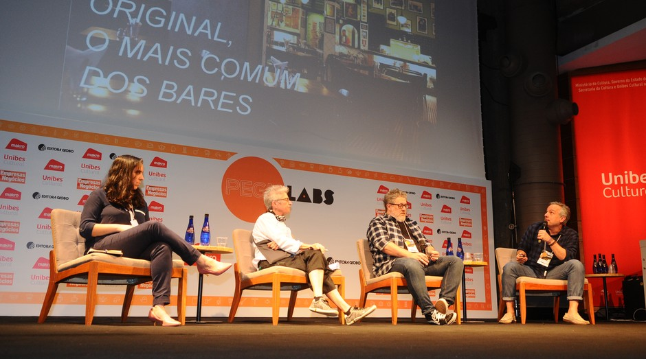 Empresários se apresentam durante PEGNLabs, evento de capacitação para donos de bares e restaurantes (Foto: Rafael Jota)