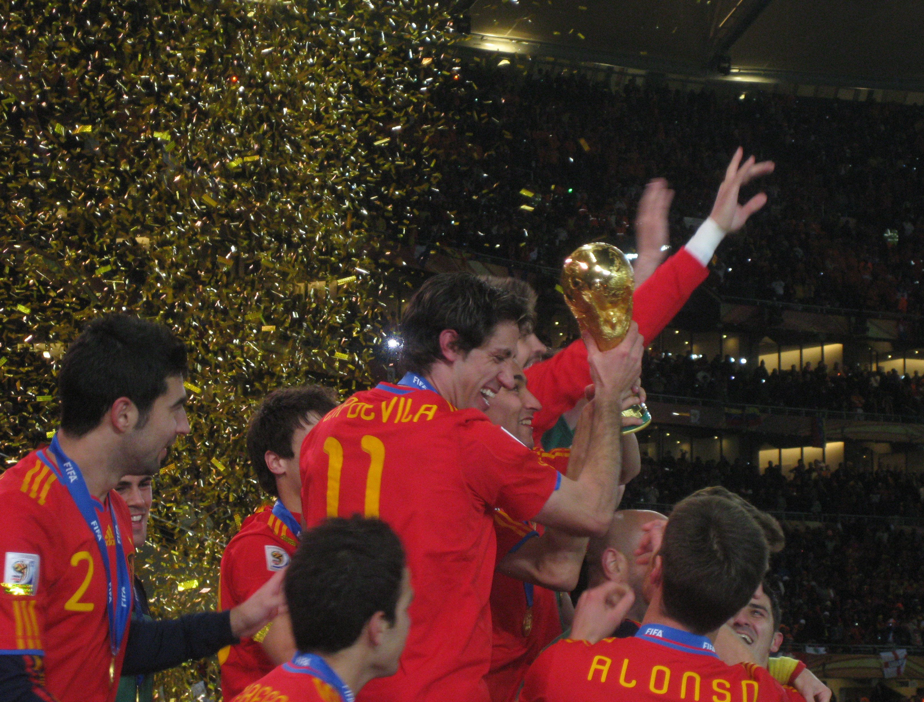 Espanha comemora o título de 2010 (Foto: Wikimedia Commons)