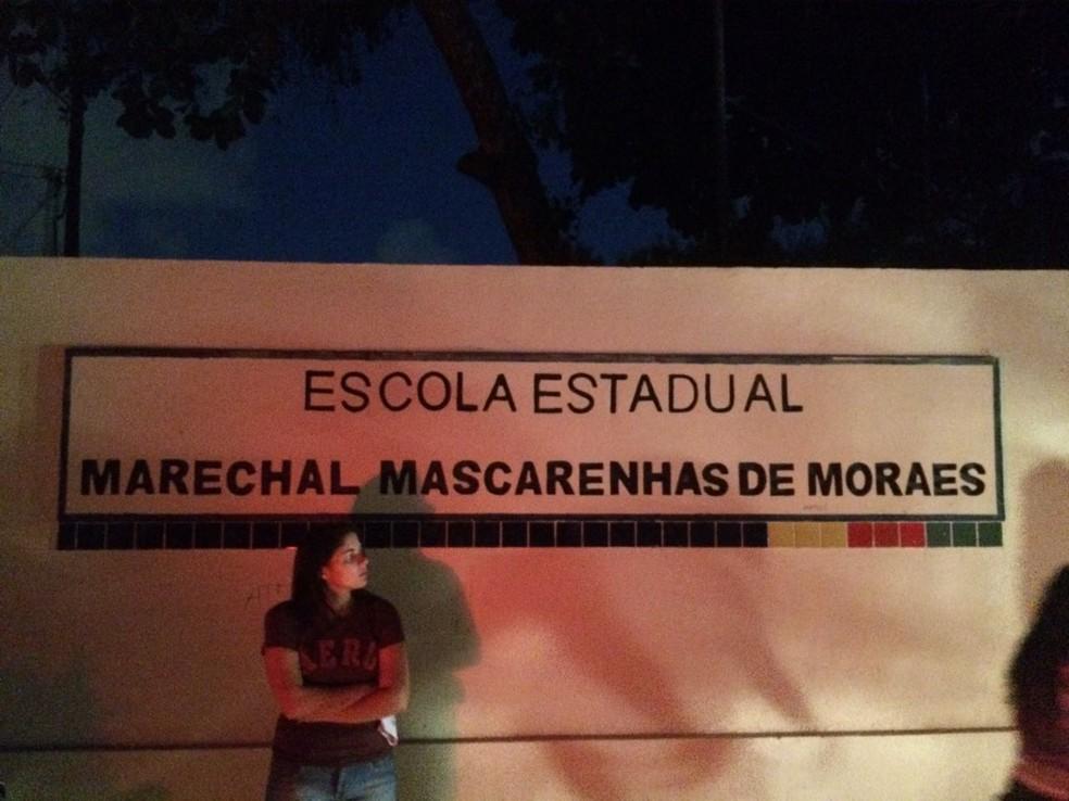 Estudantes relatam que foram prejudicados por falta de energia em local de prova do Enem em Olinda (Foto: Reprodução/WhatsApp)