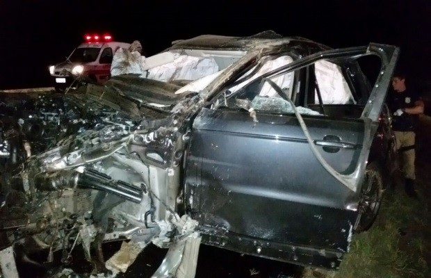 Capotamento aconteceu na BR-153, entre Goiatuba e Morrinhos, em Goiás (Foto: Divulgação/PRF)