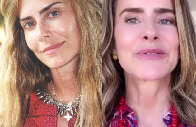 Maitê Proença viveu Kalinda, americana que nasceu numa comunidade hippie na Califórnia e veio para o Brasil. Atualmente, a atriz mantém um canal no YouTube (Foto: TV Globo - Reprodução/Instagram)