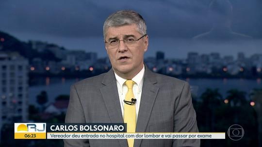 Vereador Carlos Bolsonaro dá entrada em hospital com dor lombar