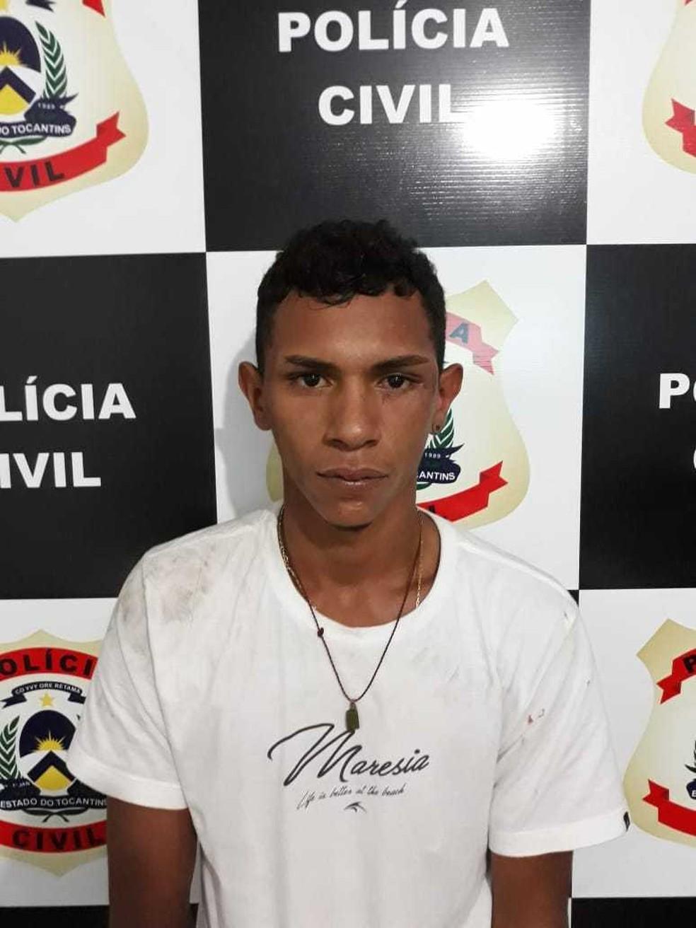 Jovem é preso suspeito de roubar comércios em Miracema do Tocantins — Foto: Divulgação/SSP
