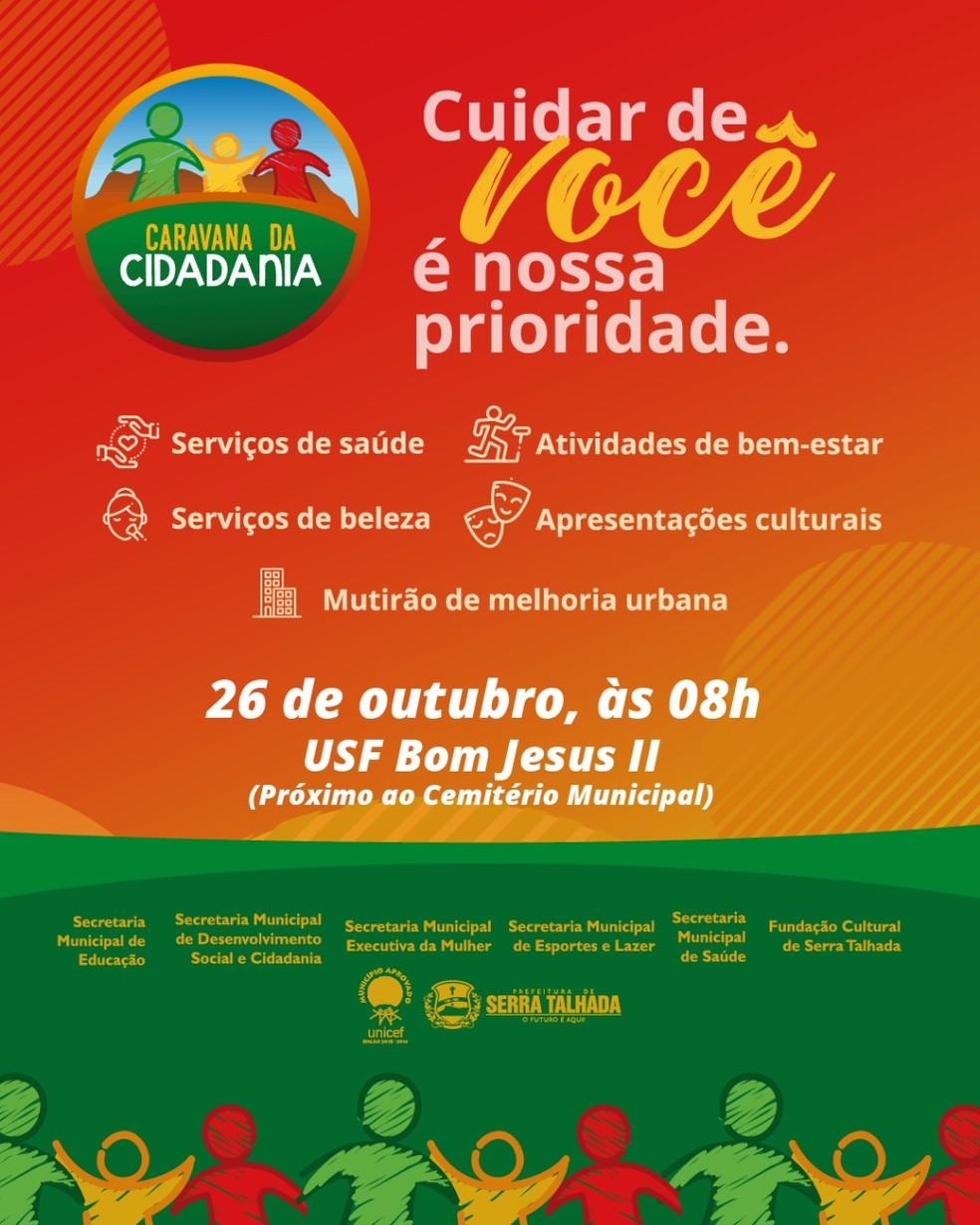 Prefeitura de Serra Tlhada promove 'Caravana da Cidadania' — Foto: Prefeitura de Serra Talhada/Divulgação