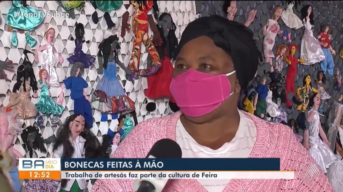 'Bonequeiras' de Feira de Santana mantêm tradição de confeccionar brinquedos de forma artesanal; confira