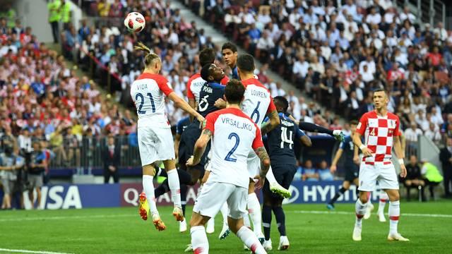 Gol contra de Mandzukic em França x Croácia