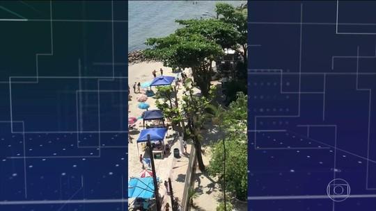 VÍDEO: tiroteio em praia de SP deixa 1 morto e 2 feridos
