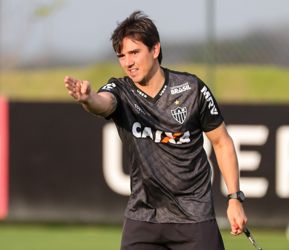 Galo de Thiago Larghi está de olho em uma vaga no G-4 do Brasileiro — Foto: Bruno Cantinni / Atlético-MG
