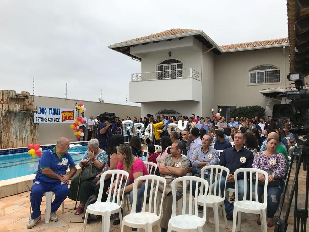 PPS declara apoio à reeleição do governador de MT Pedro Taques (PSDB) (Foto: Flávio Coelho/TV Centro América)