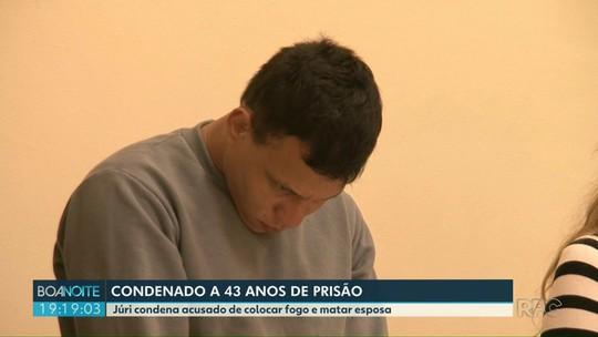 Júri condena a 43 anos de prisão acusado de colocar fogo e matar ex-namorada em Francisco Beltrão
