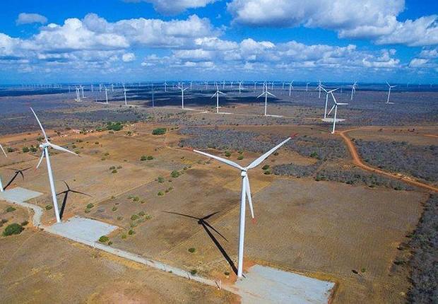 Parque eólico no Rio Grande do Norte ; energia eólica ; energia renovável ; sustentabilidade ;  (Foto: Divulgação)