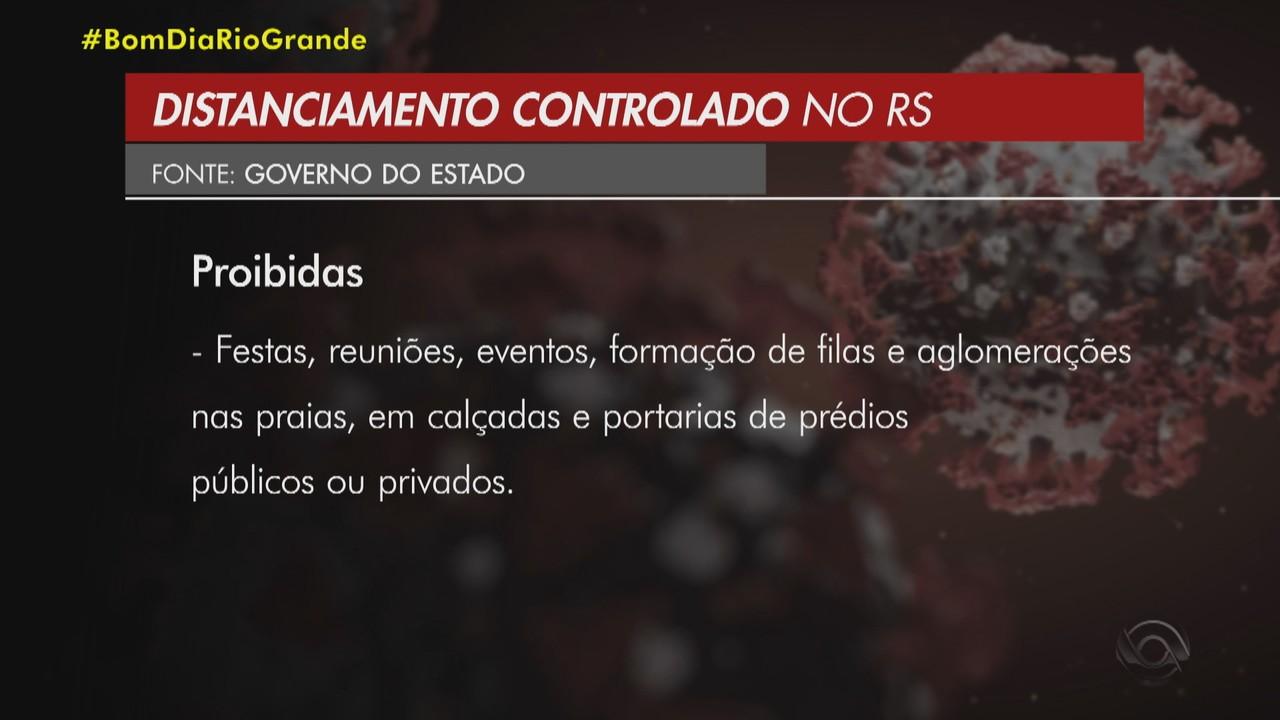 Governo do RS publica decreto que restringe atividades entre 22h e 5h