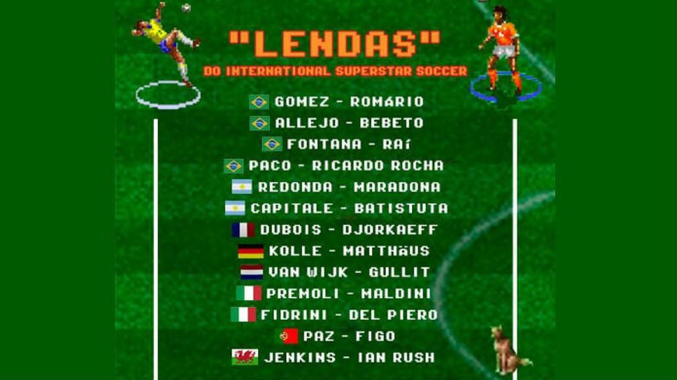 Curiosidades de International Superstar Soccer: a Konami revelou em 2019 os nomes reais de alguns jogadores — Foto: Divulgação / Konami