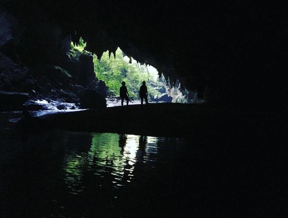 Caverna Tememina, em Apiaí (Foto: Divulgação/Petar)
